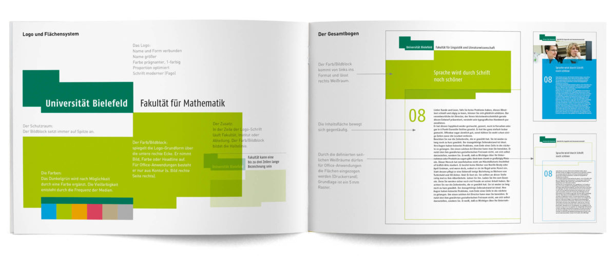 Universität Bielefeld Corporate Design Handout