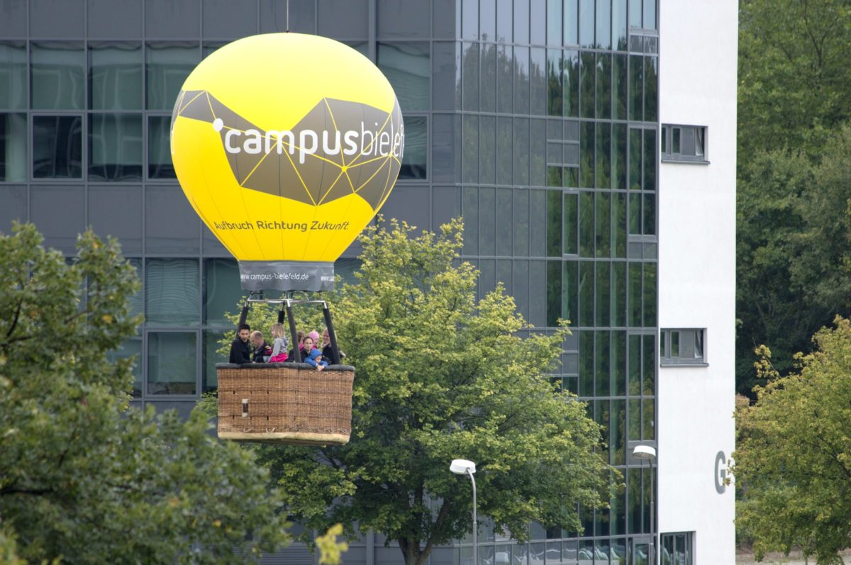 Campus Bielefeld Corporate Design Ballon