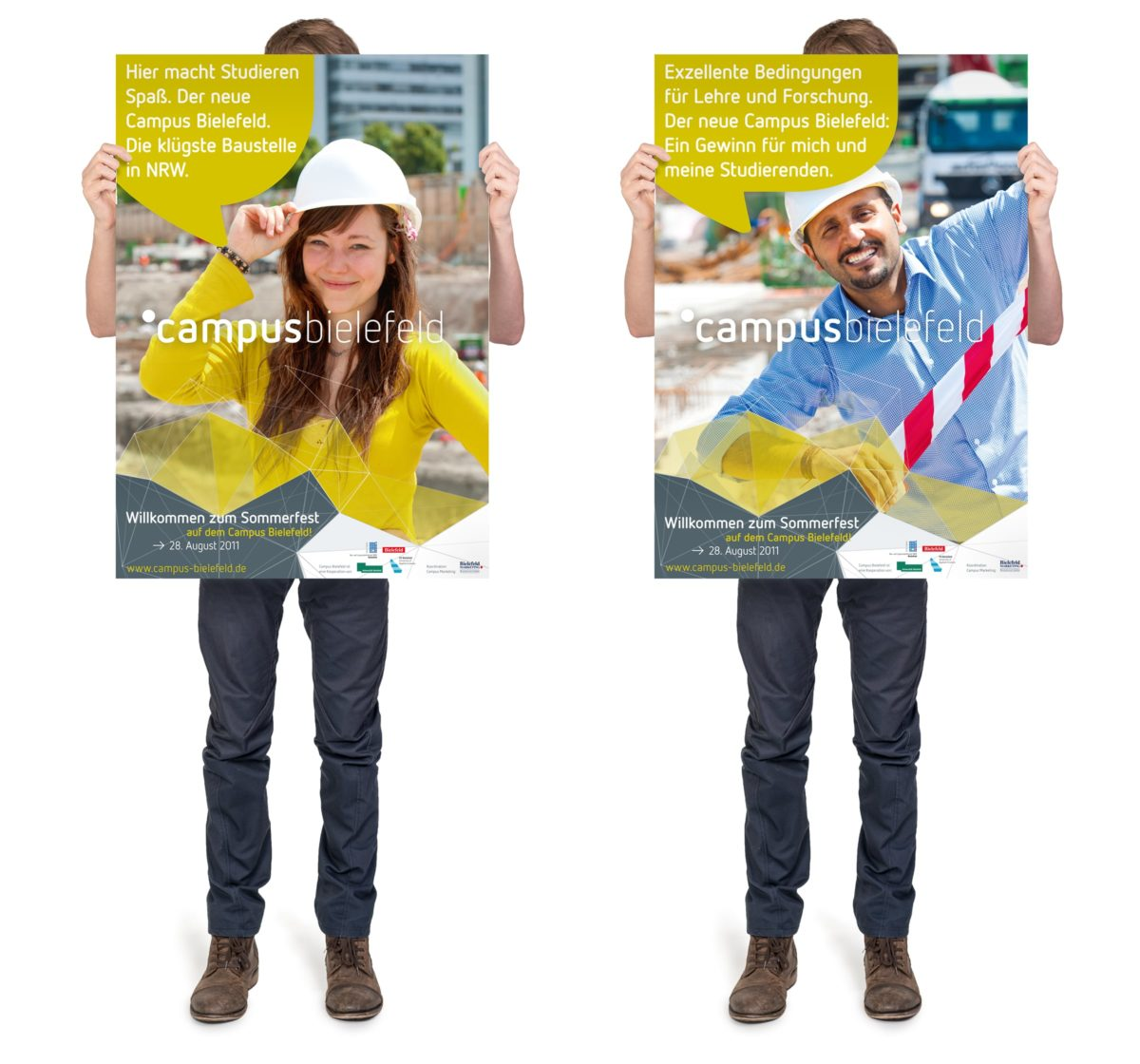 Campus Bielefeld Corporate Design Plakate