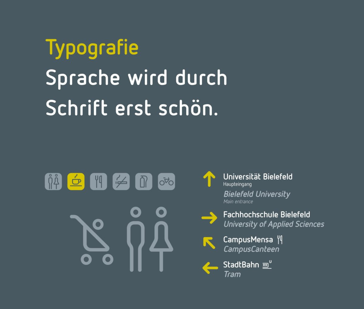Campus Bielefeld Corporate Design Typografie