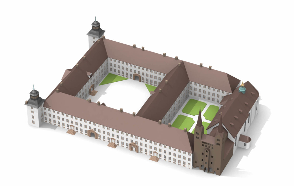 Schloss Corvey dreidimensionale Darstellung