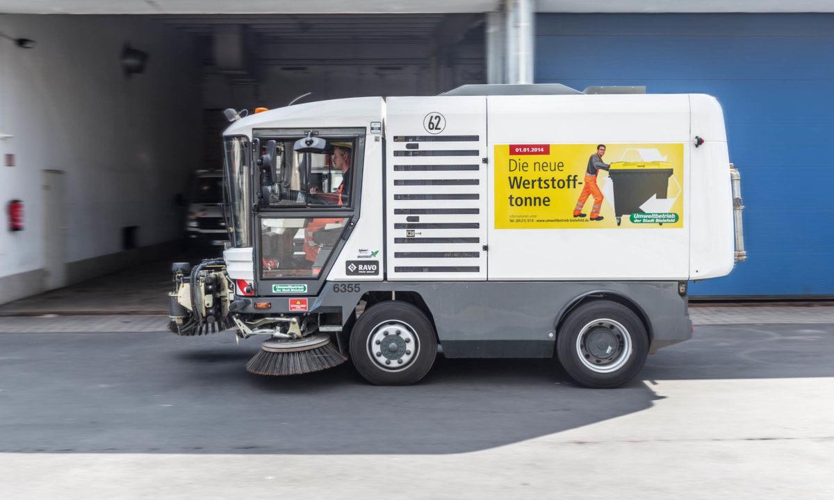 Werstofftonne Bielefeld: Kehrmaschine
