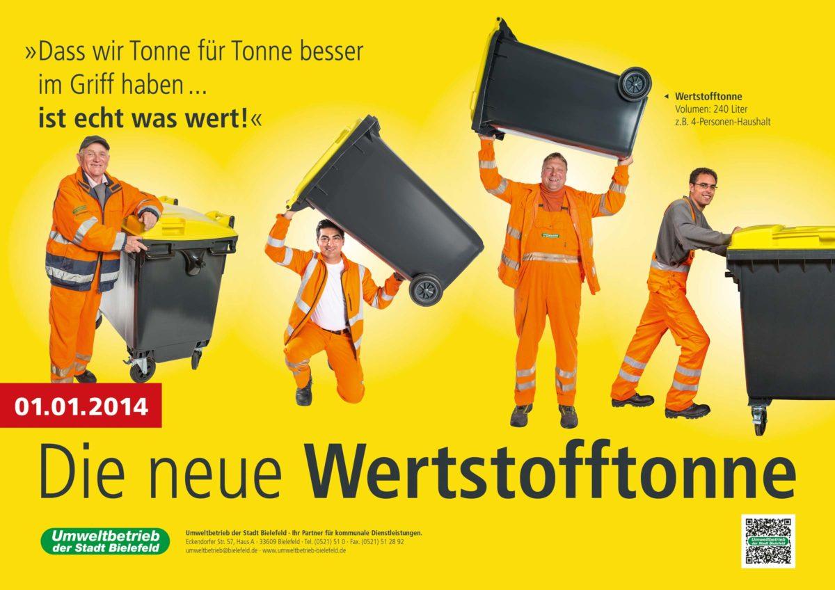 Werstofftonne Bielefeld: Plakat