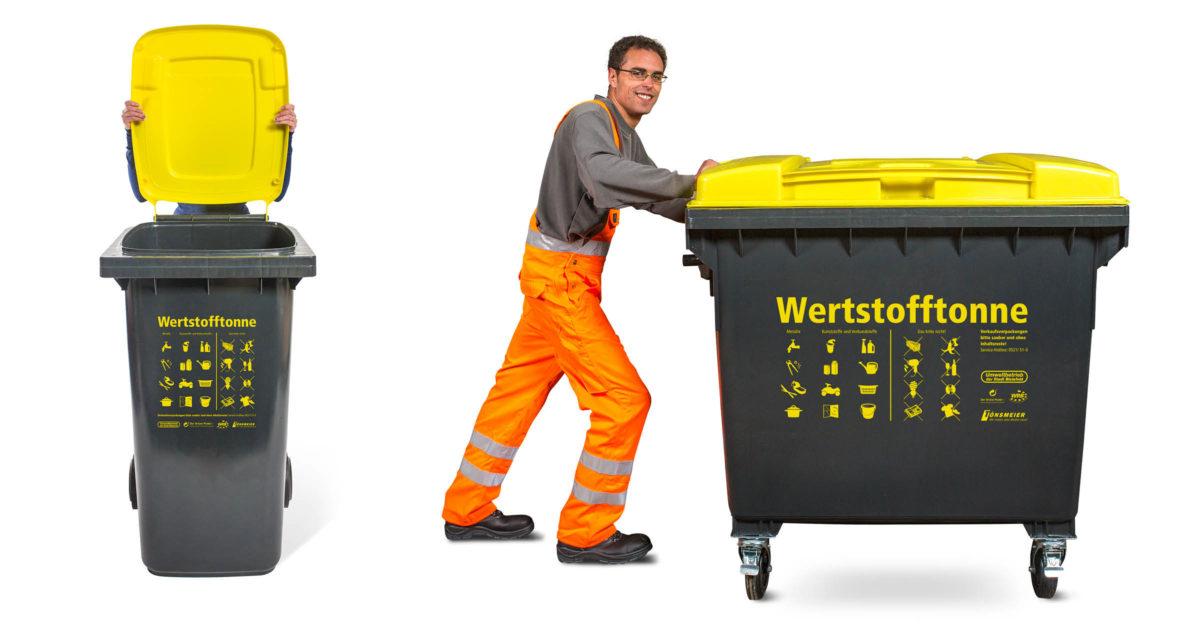 Werstofftonne Bielefeld: Mülltonnen