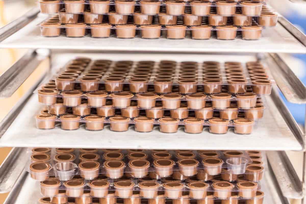 Drei Meister Schokolade Foto Produktion