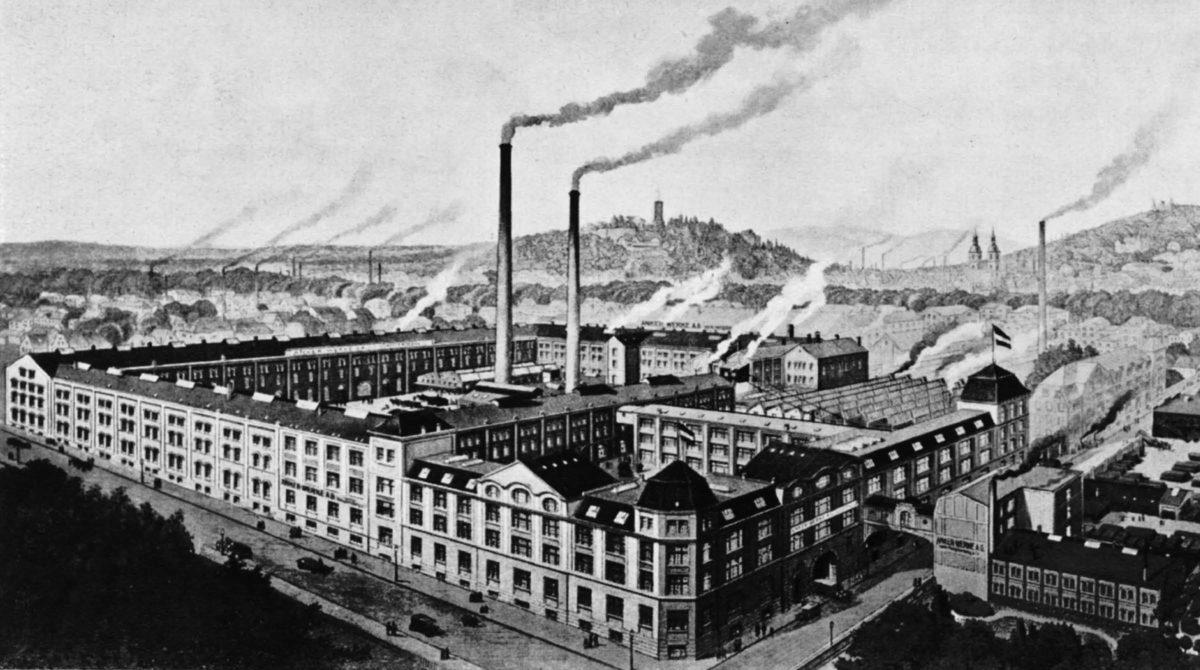 Historische Abbildung der Anker Werke Bielefeld