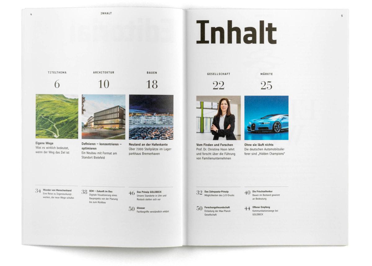 Magazingestaltung, Editorial Design, Inhaltsverzeichnis, Index
