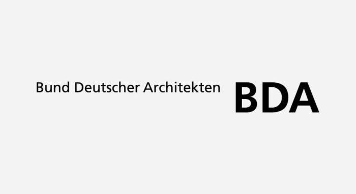 Bund Deutscher Architekten BDA Logo schwarz-weiß