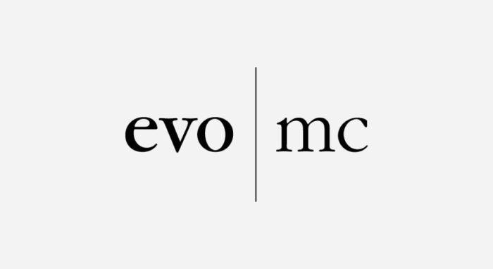 evo-mc Logo schwarz-weiß