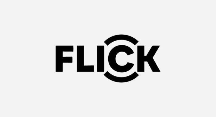 Flick Logo schwarz-weiß