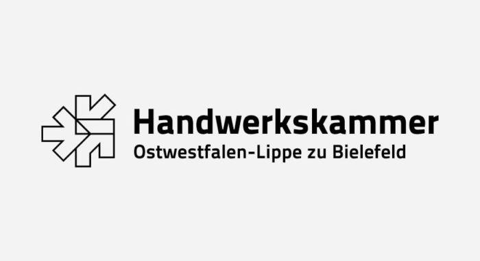 Handwerkskammer Ostwestfalen-Lippe zu Bielefeld Logo schwarz-weiß