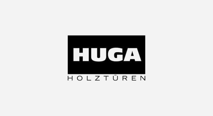 HUGA Logo schwarz-weiß