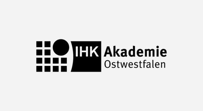 IHK Akademie Logo schwarz-weiß