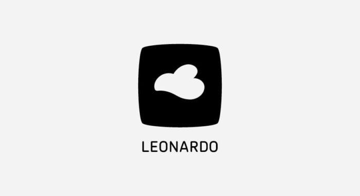 Leonardo Logo schwarz-weiß
