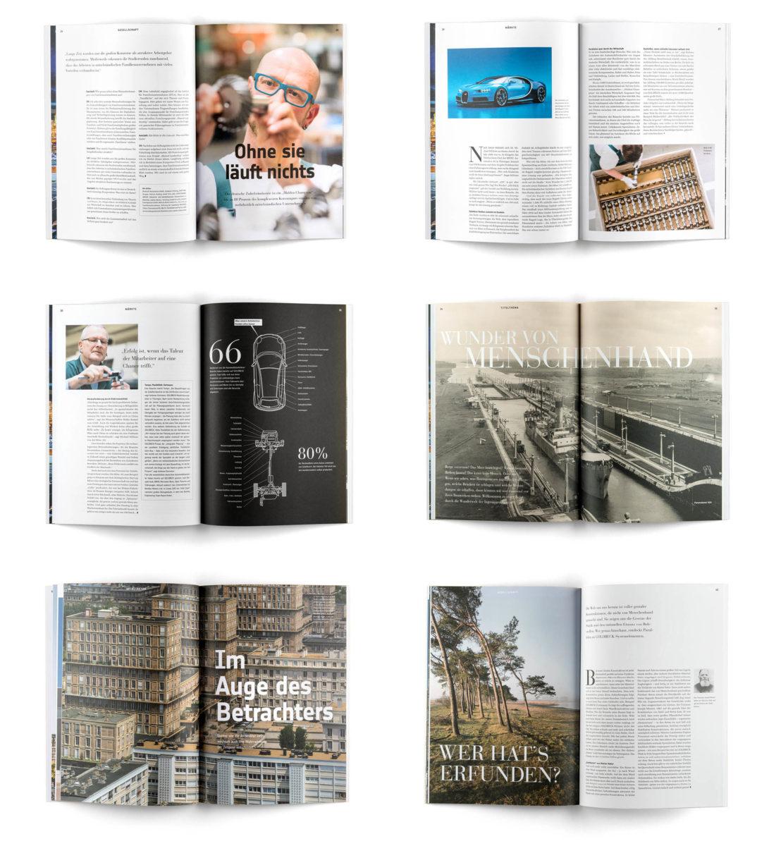 Magazingestaltung: Beispielseiten bau|zeit Magazin
