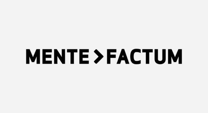 Mente Factum Logo schwarz-weiß