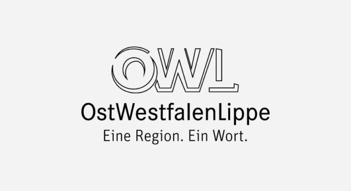 OWL Ostwestfalen-Lippe Logo schwarz-weiß