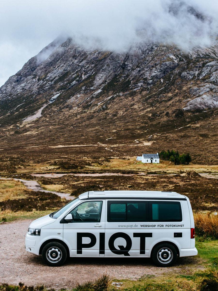PIQT Webshop für Fotokunst Autobeschriftung VW T5 weiß