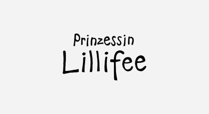 Prinzessin Lillifee Logo schwarz-weiß