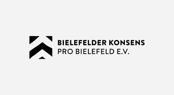 Bielefelder Konses Pro Bielefeld e.V. Logo schwarz-weiß