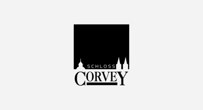 Schloss Corvey Logo schwarz-weiß