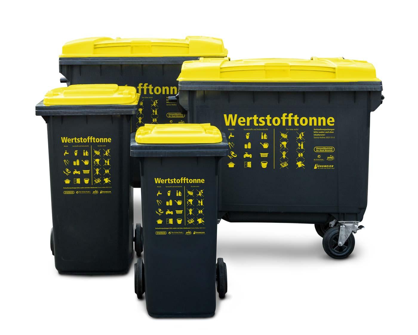 Die neue Wertstofftonne für Bielefeld