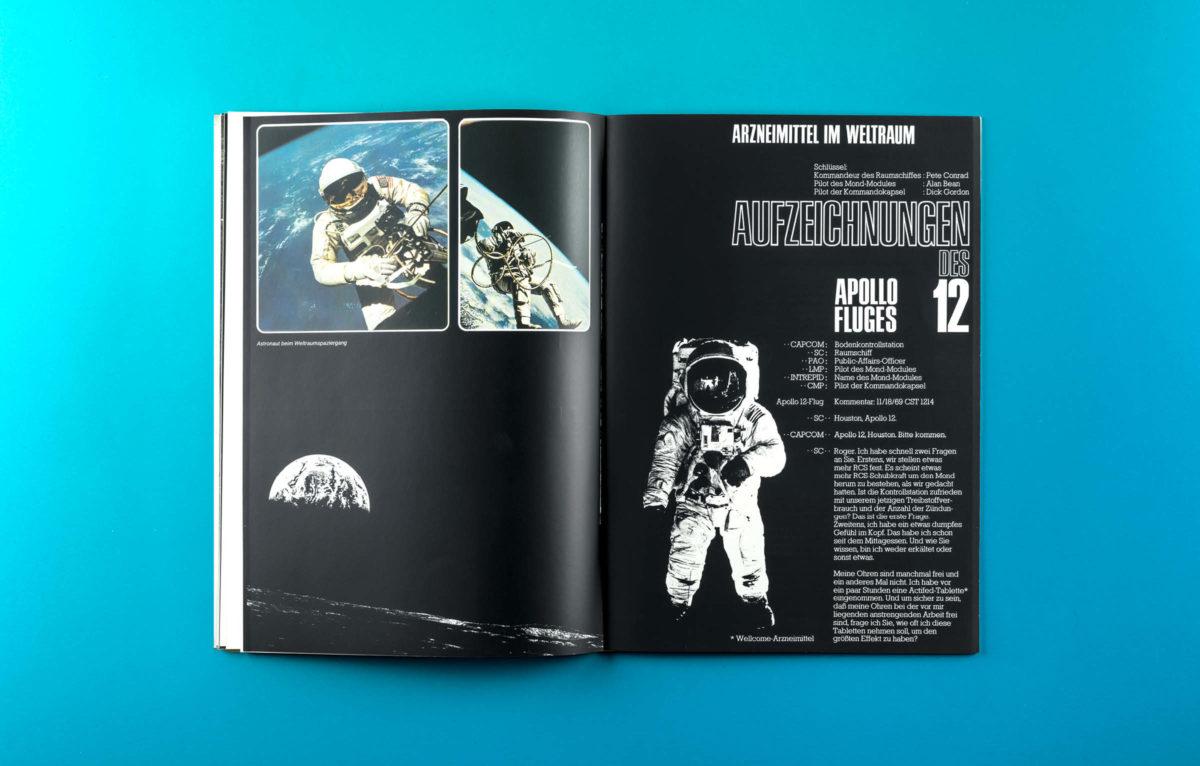Arzneimittel im Weltraum, Editorial Design Historisch, 1972