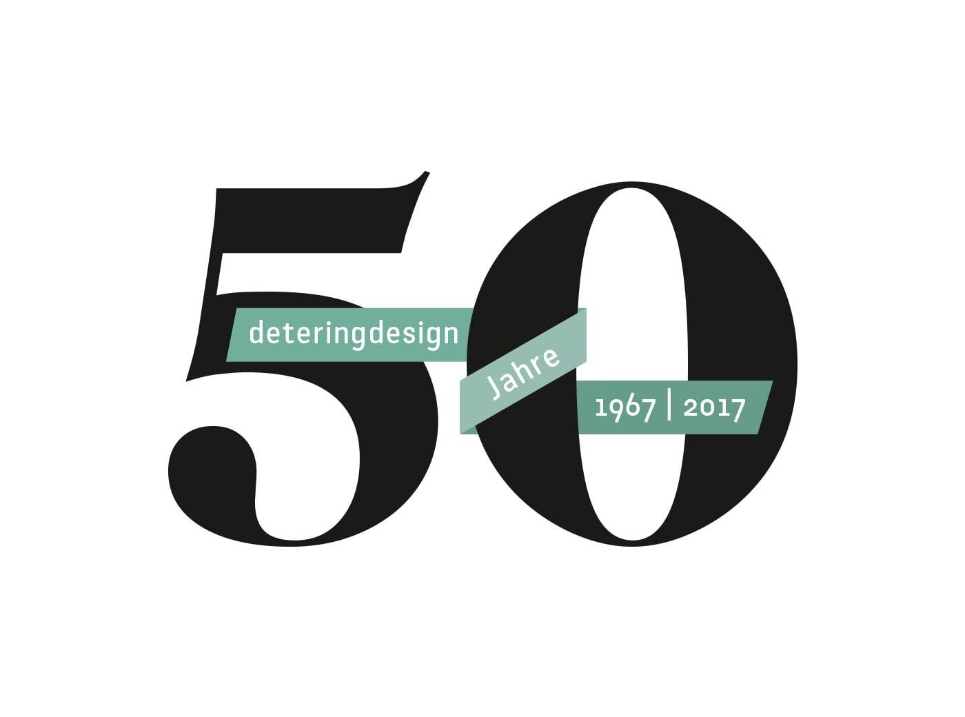 deteringdesign 50 Jahre Jubiläum