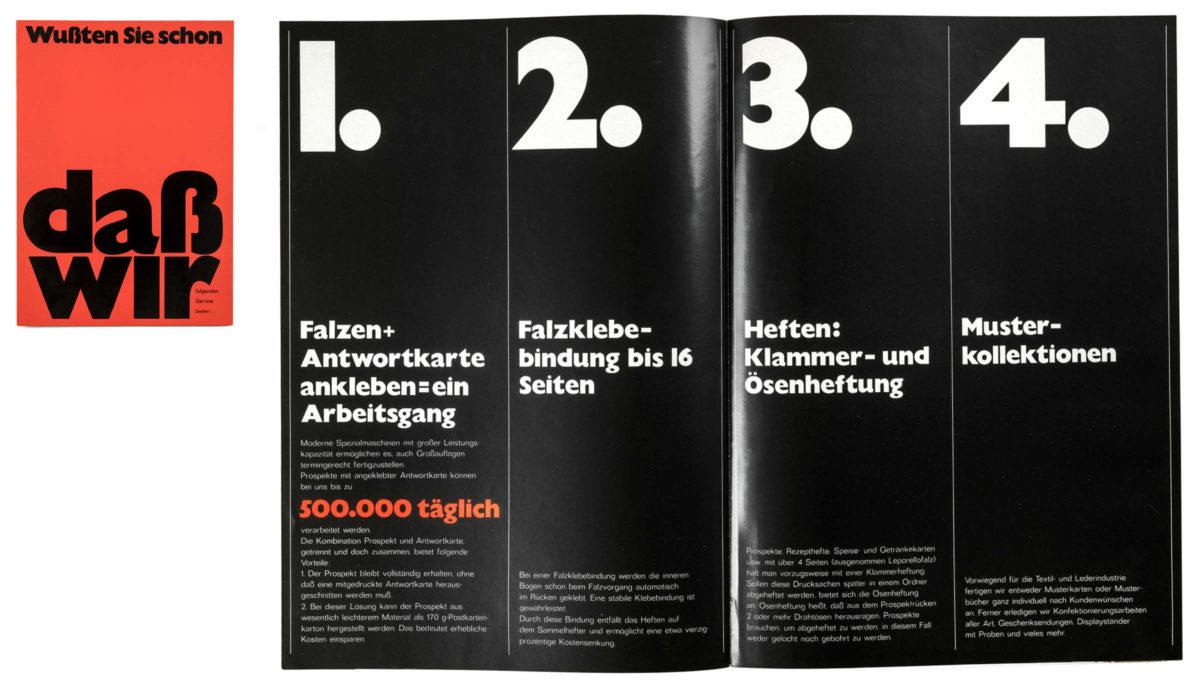 Editorial Design 1967, Gill Sans