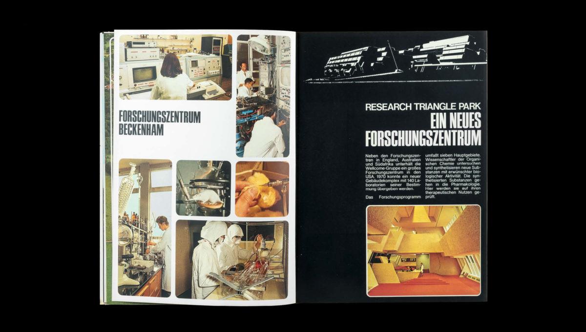 Forschungszentrum Beckenham, Editorial Design von 1972
