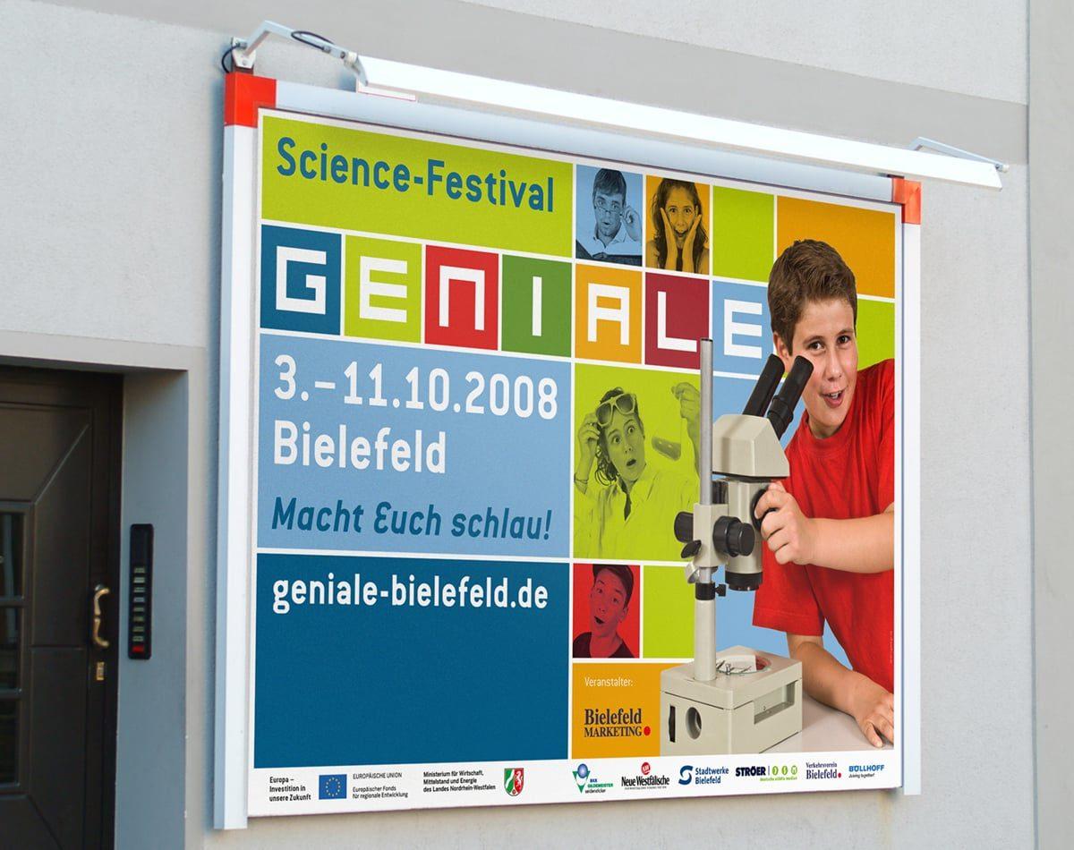 GENIALE Bielefeld Plakatwand