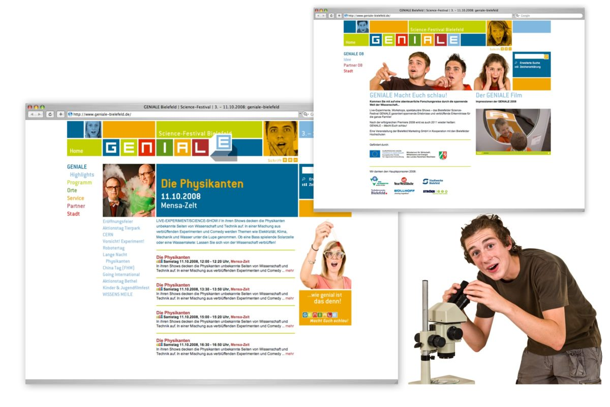 GENIALE Bielefeld Webseite