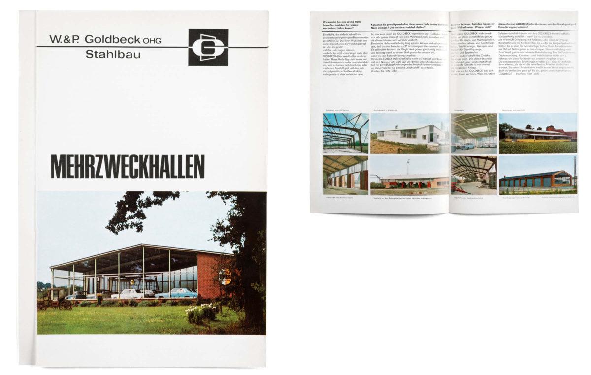 Historisches Prospekt: Goldbeck Stahlbau, Mehrzweckhallen