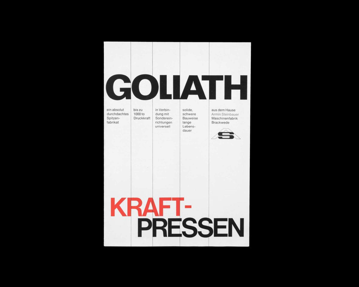 Goliath Kraftpressen, Editorial Design 1967