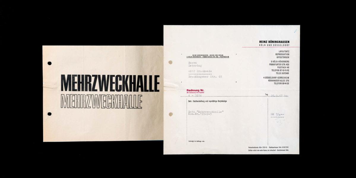 Historische Rechnung von 1967, Satzerstellung und reprofähige Barytabzüge – 15 DM