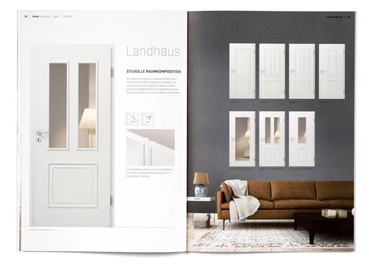 HUGA Holztüren Katalog, Innenseite