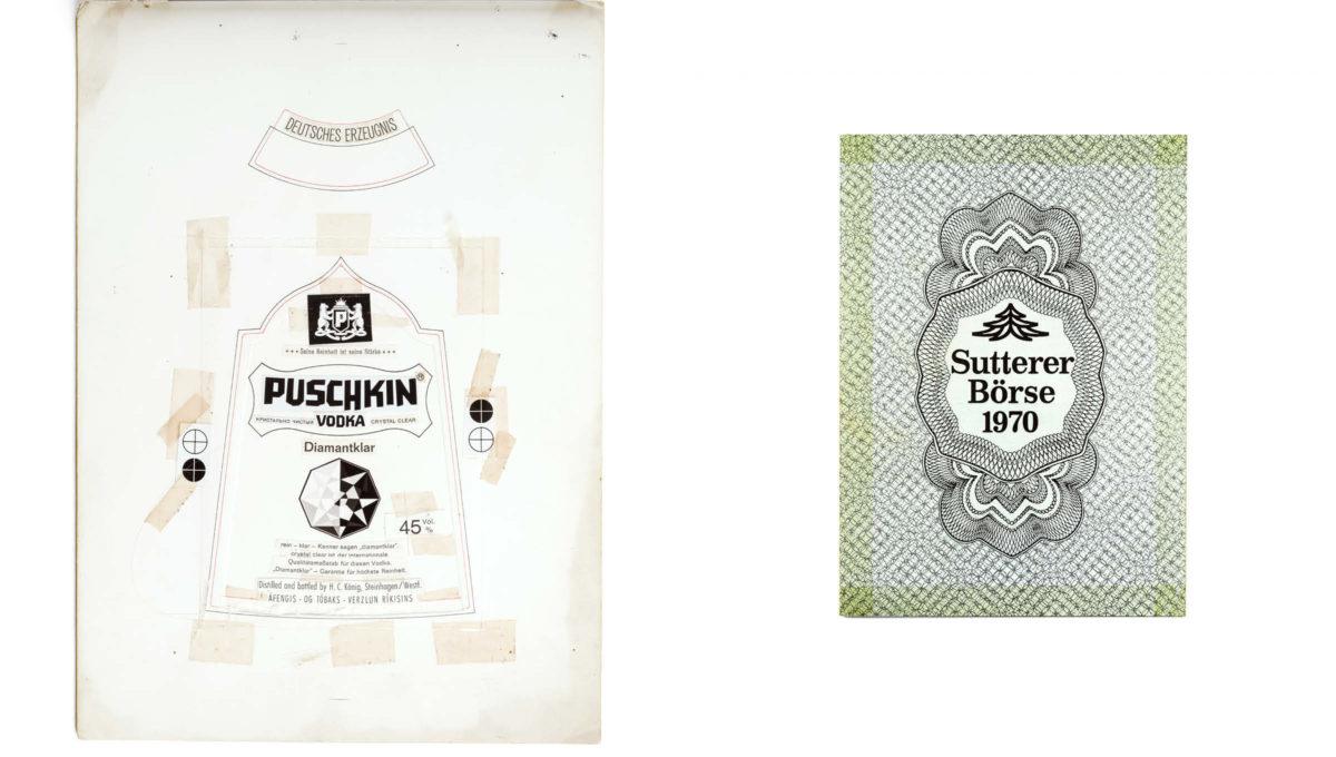 Puschkin Vodka Design von 1969