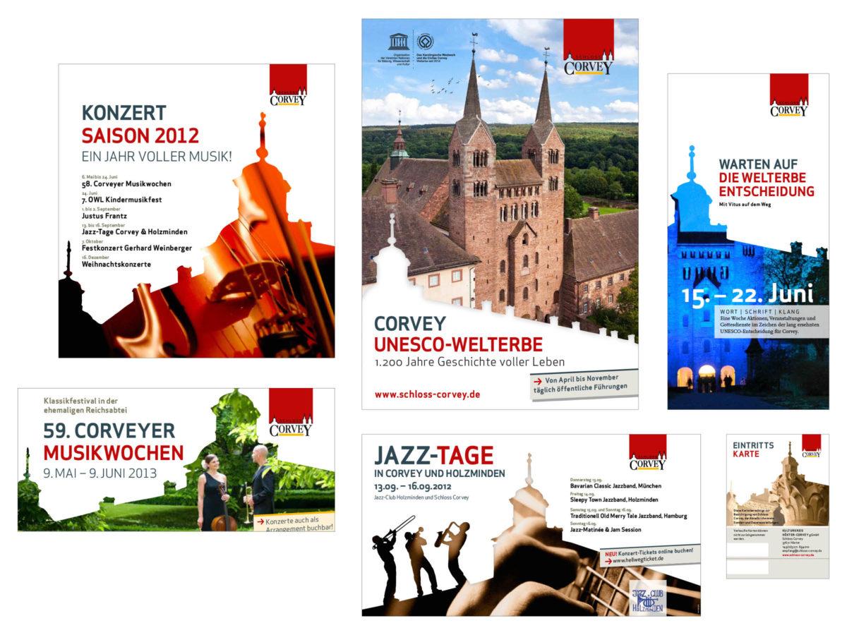 Schloss Corvey Anzeigen und Plakate