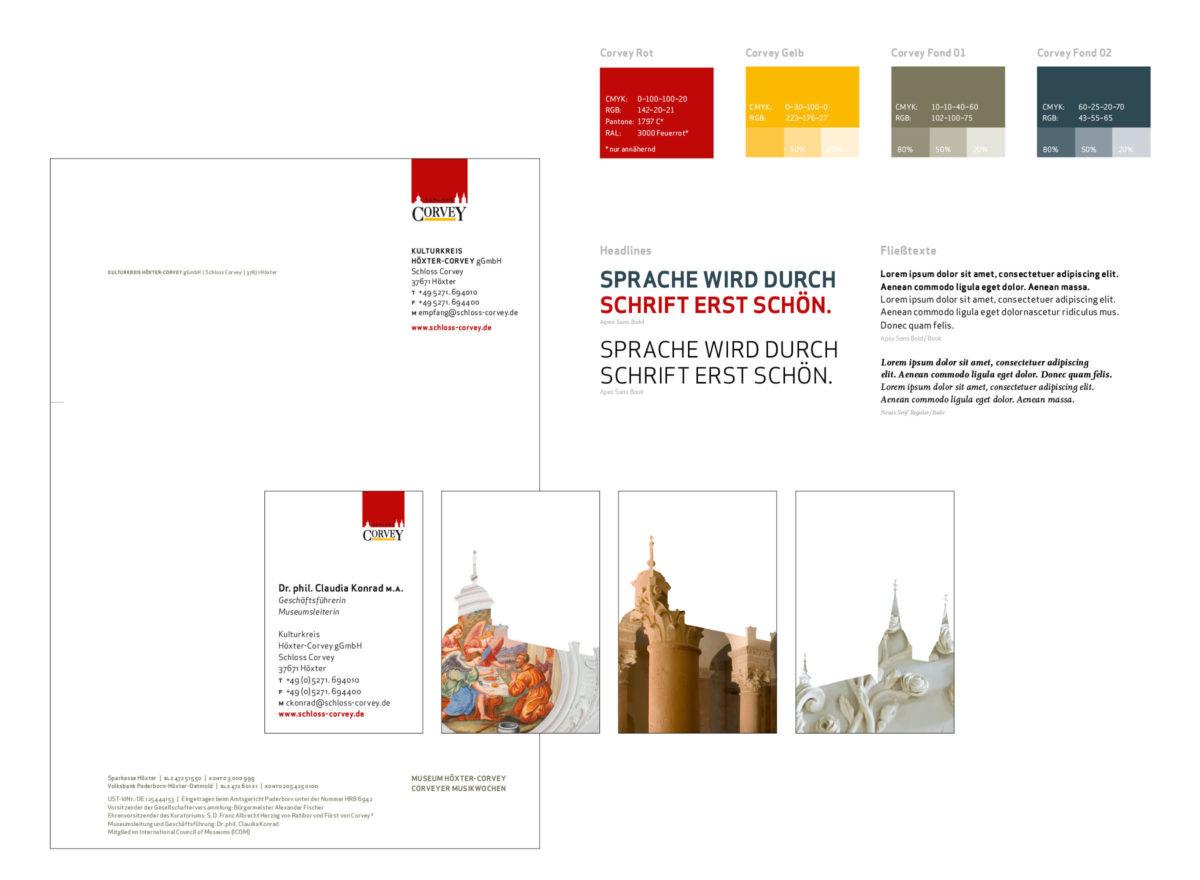 Schloss Corvey Grafikdesign