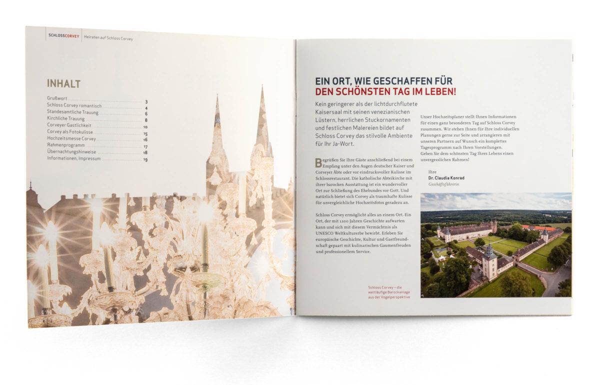 Schloss Corvey Broschüre Heiraten