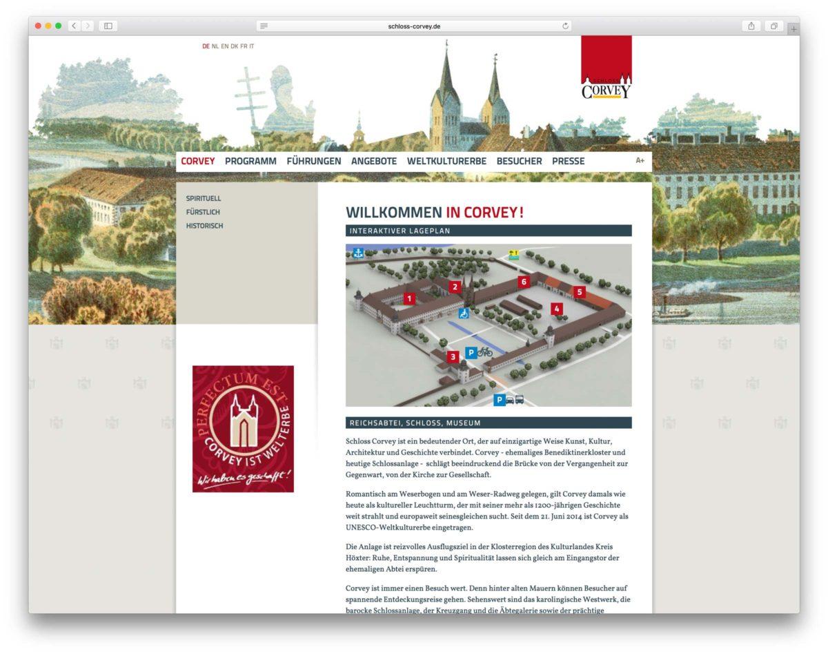 Schloss Corvey Webseite