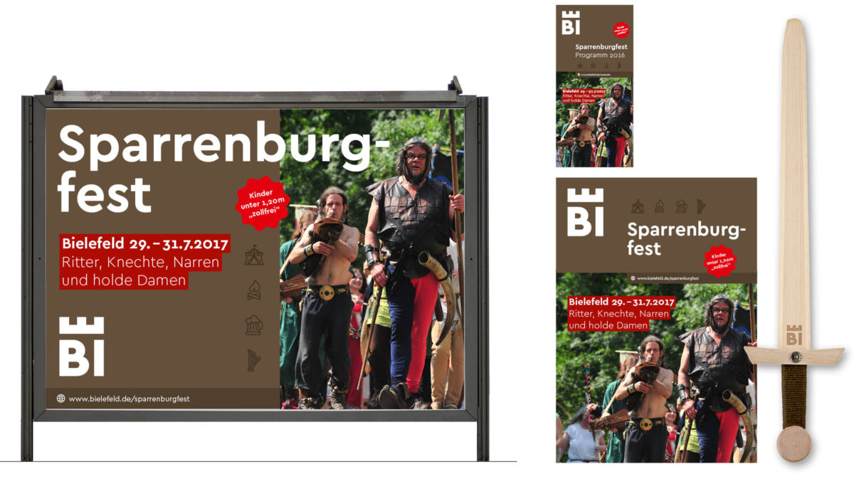 Stadt Bielefeld Corporate Design Sparrenburgfest
