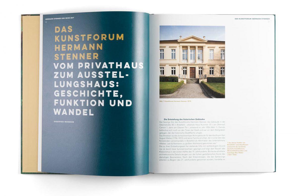Kunstforum Hermann Stenner Ausstellungskatalog Innenseite