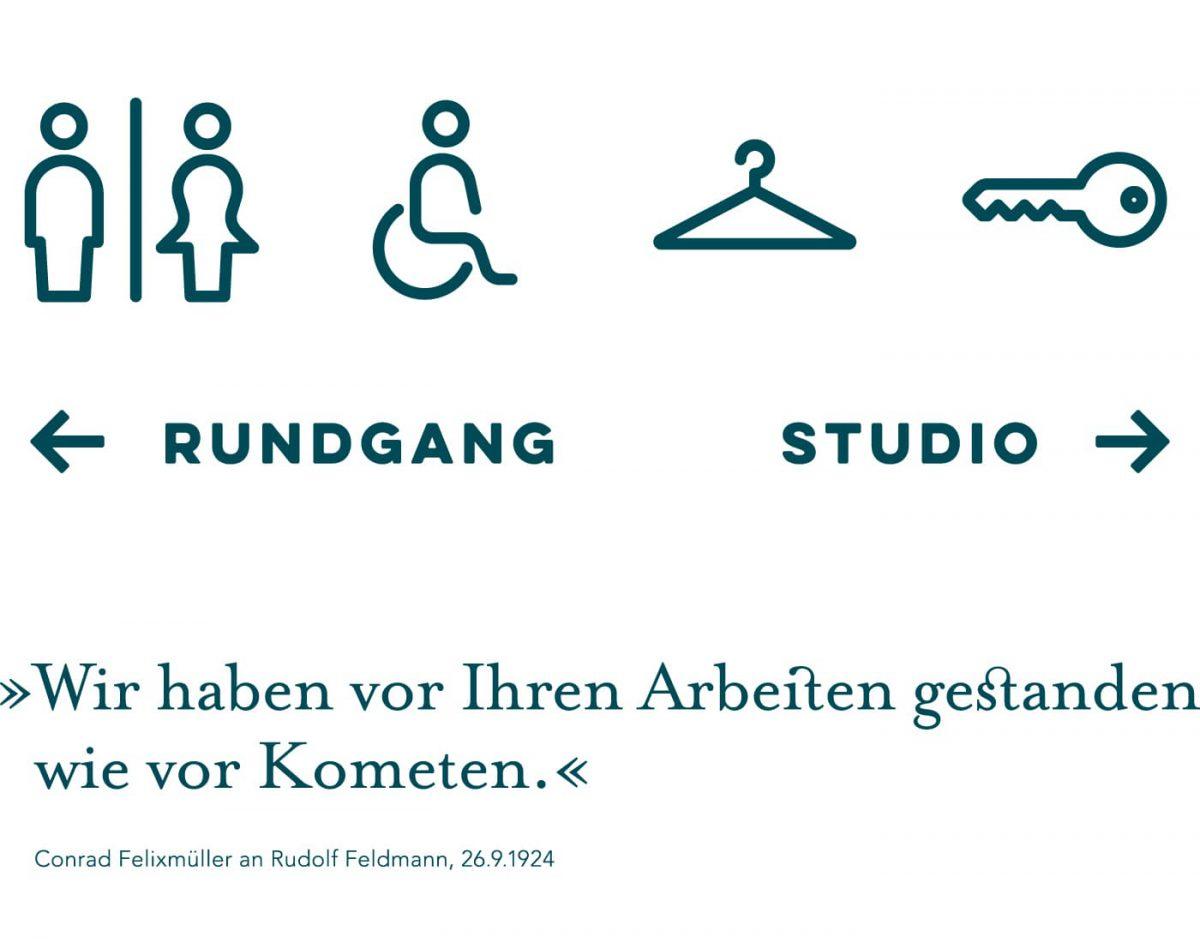Kunstforum Hermann Stenner Leitsystem